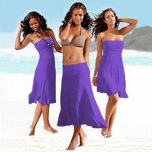 Off Shoulder Boho Mini Dress 2017 Summer Beach Strapless Dress Women Long Tunic Sundress Robe Femme