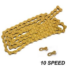 Gold Steel Mountain Bike Chain 10S Speed 116 Link Hollow SL Chians Durable MTB Road Bicycle Chain For Shimano Sram System цена и фото