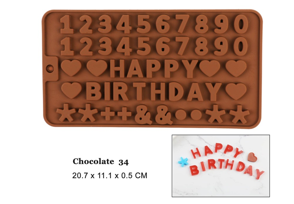 <font><b>cake</b></font> <font><b>decorating</b></font> <font><b>tools</b></font> silicone chocolate mold <font><b>letter</b></font> and number fondant molds cookies bakeware <font><b>tools</b></font> image