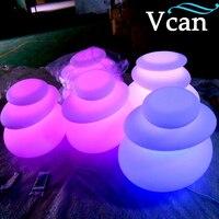 Comprar Los colores impermeables cambian el control a distancia de la piedra LED exterior de plástico PE