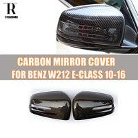 W212 углерода Волокно заменены Стиль боковое зеркало заднего вида покрытия Кепки для Mercedes Benz W212 E200 E220 e250 E300 E350 2010 2015