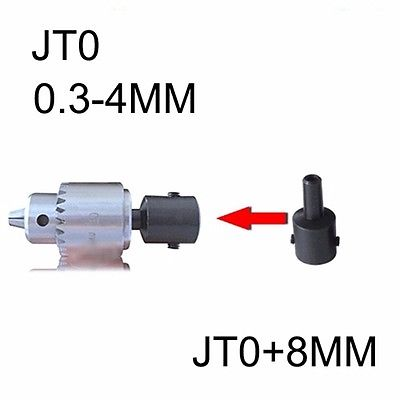 Mini Electric Drill Chuck 0.3-4mm With 8mm Steel Shaft Mount JT0 Inner Hole Rotary Tools DIY accessories for mini lathe