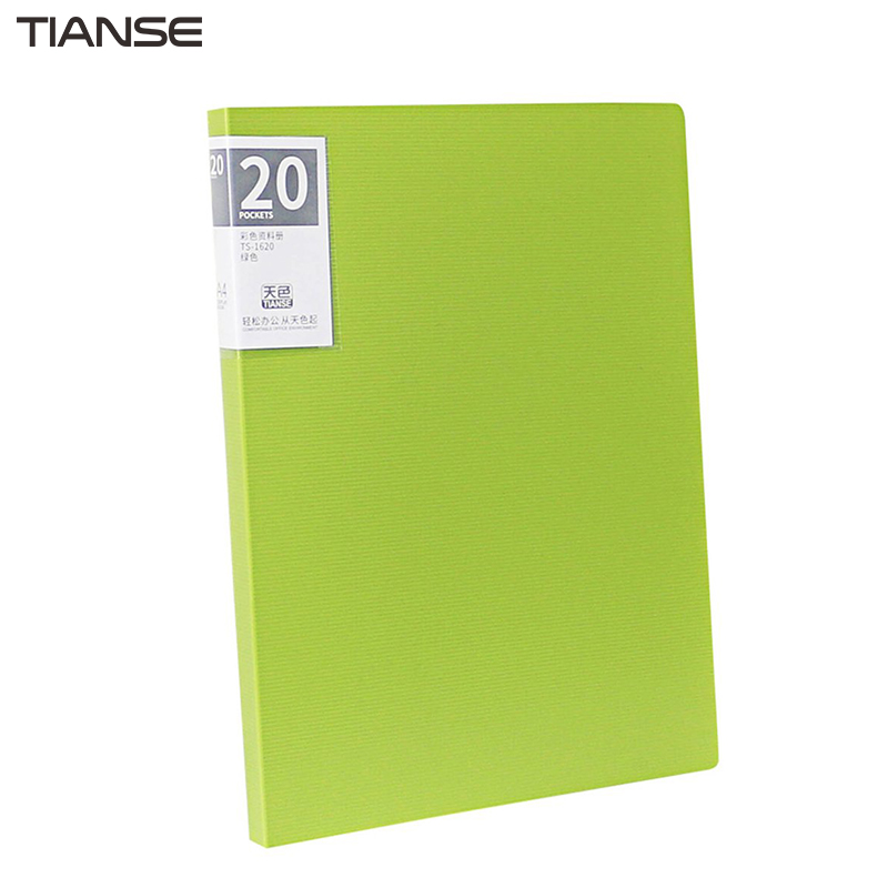 TIANSE 20 Pages A4 Multilayer File Folder Colorful Insert Loose Leaf Book Student Information Sheet Music Folder Data Book ...