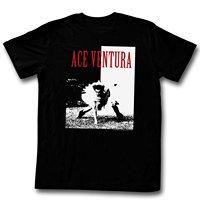 Letter American Classics Ace Ventura Ace Men S T Shirt Black Cool Slim Fit Letter Printed