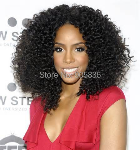 Kelly Rowland Short Hairstyle Natural Black Afro Kinky Curly Hair