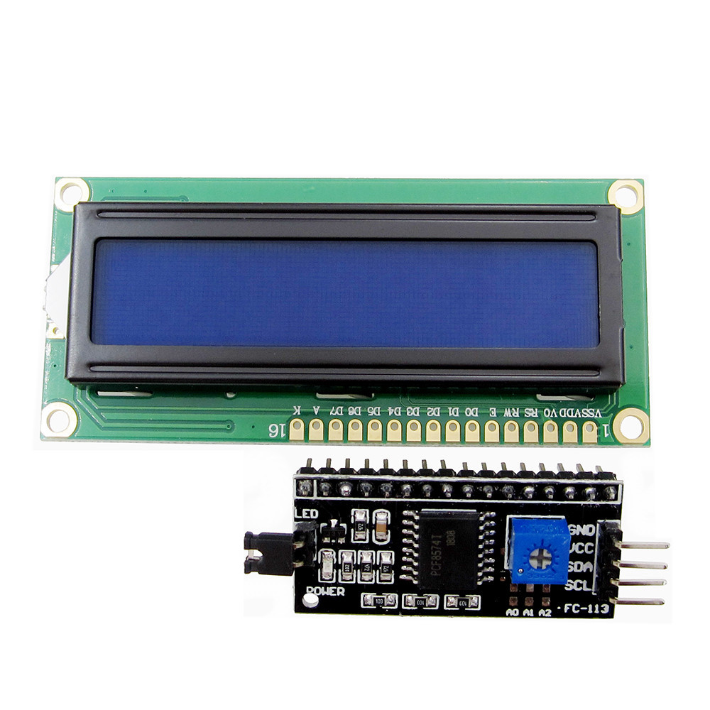1 set IIC/I2C + LCD 1602 Blue/Green Backlight LCD Display Adapter Plate