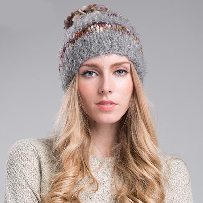 ab78101eb2a Sedancasesa 2018 Fashion Winter Knitted Skullies   Beanies Warm Hat Gorro  Bonnets Ear Protect Cute Pompoms Casual Cap AA130216-in Skullies   Beanies  from ...