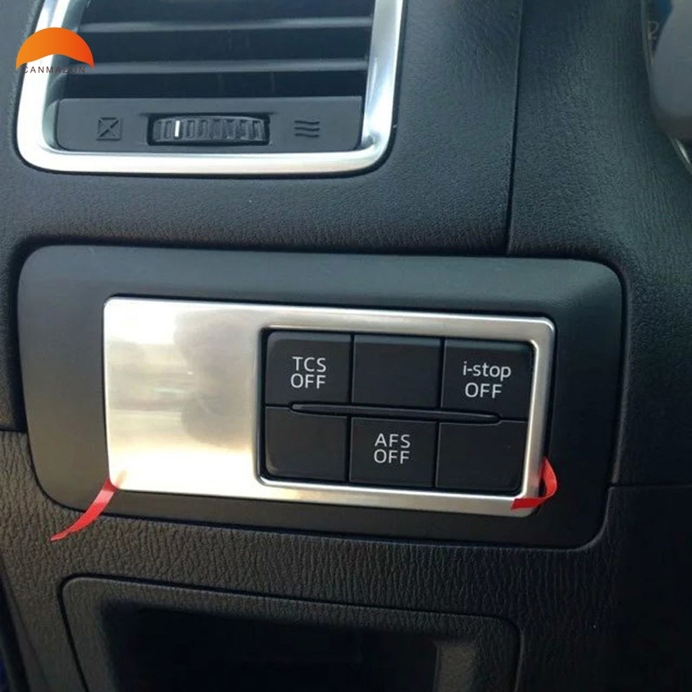 For Mazda CX-5 CX5 2012-2018 CX3 2015-2018 Matte ABS Interior Fog Light Lamp Switch Frame Cover Trim Auto Accessories Styling