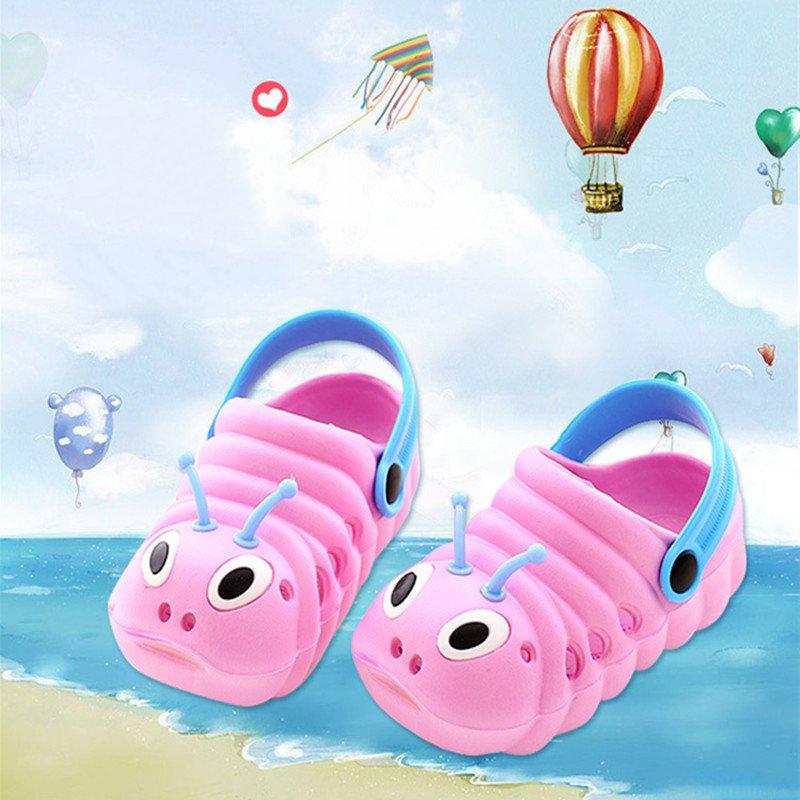 06cc67b2a2 Details about Summer Cute Boys Girls Sandals Garden Shoes EVA Caterpillar  Kids Babies Slippers