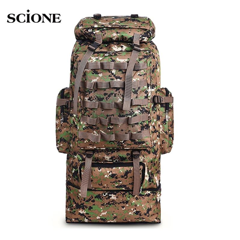 100L militaire sac à dos Molle Camping sac à dos tactique sac à dos hommes grande randonnée armée voyage en plein air Sport sacs sac XA231WA