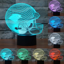 NFL Carolina Panthers 3D Night Light 7 color changing acrylic USB LED table desk Lamp touch switch as gift for Child IY803658