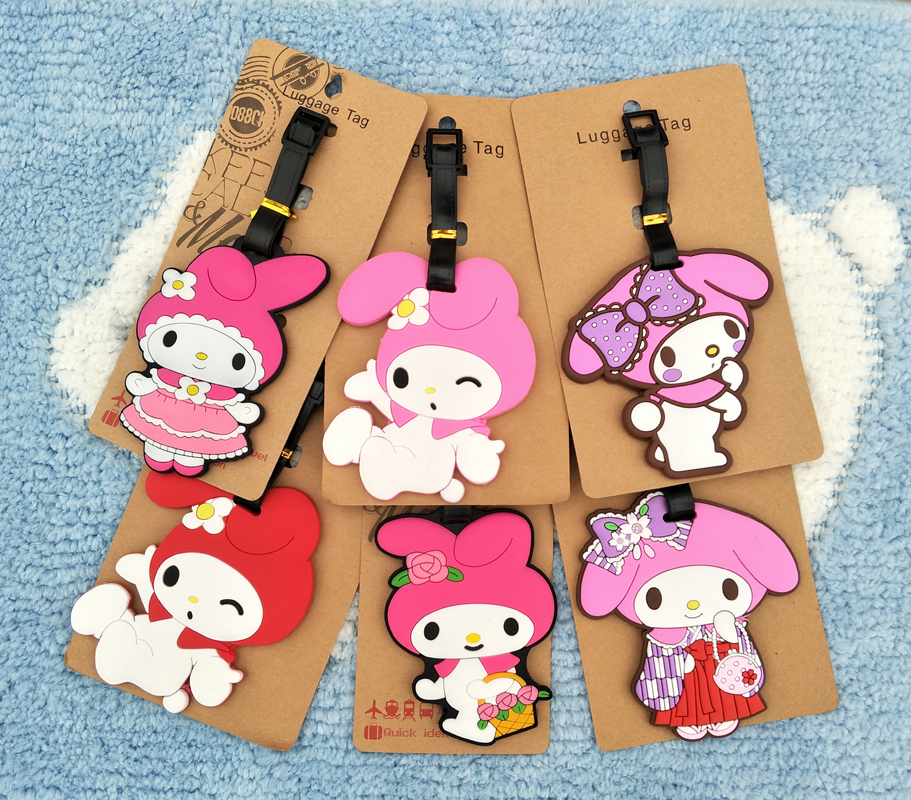 Figures Cartoon Luggage Melody Ornaments-Tags Decorative-Suitcase Gifts Action Anime