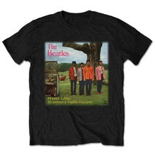 T Shirt Quotes The' Strawberry Fields Forever' Crew Neck Broadcloth Short T Shirt For Men цена