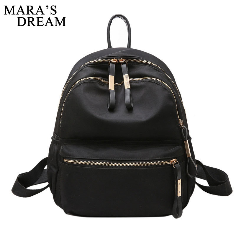 Mara's Dream Women Backpack New Small Fashion Black Shoulder Back Bag Preppy Style Backpacks For Teenage Girls Female Back Pack women backpack black red fashion style school daypacks funny quality pu leather small shoulder bag teenage girl travel back pack