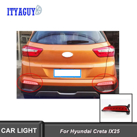 Car styling light for Hyundai Creta IX25 Rear Bumper Lamp 2pcs LED DRL Rear Bumper tail light fog lamp Brake Lights turn signal