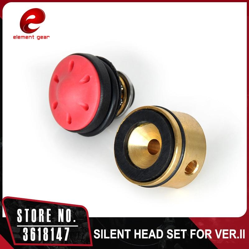 Elemento Gear rodamiento silencioso cilindro y pistón para Airsoft AEG versión 2/3 Ver.2/3 AK M4 M16 MP5 G3 m249 engranajes IN0809