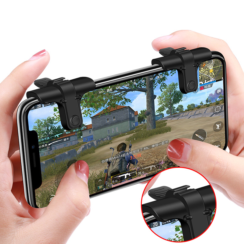 Mobile Controller for iPhone Xiaomi PUBG Mobile Aim Fire Button Game Controller Tools Shooter Knives out Rules of Survivers