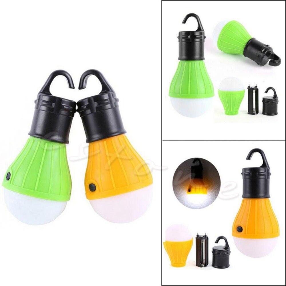 Yellow/Green Long Lifespan Emergency Lamp Tent Light Lantern 3x LED Portable +Hook Outdoor Camping Hiking #20/18L