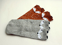 Блин fox kids тоторо колено медведь высокие девочек длинные носки осень