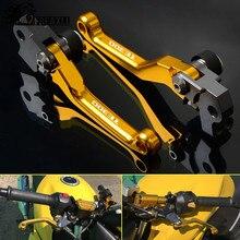 Motorcycle Accessories Pit Dirtbike Dirt Bike Pivot Brake Clutch Levers For HUSQVARNA TE300 TE 300 2014 2015 2016 2017 Printing цена 2017