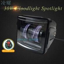 30 Вт Универсальный светодио дный светодиодный автомобиль светодио дный мотоцикл светодиодные фары водостойкие прожекторы прожектор стояночный стоп Предупреждение сигнал Лампа для ATV внедорожник мото