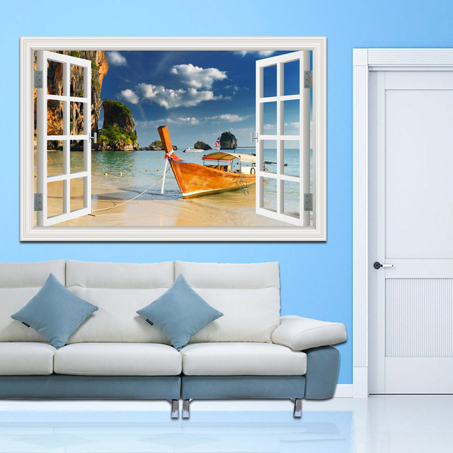 aliexpress : buy removable high quality 3d wall sticker sailing