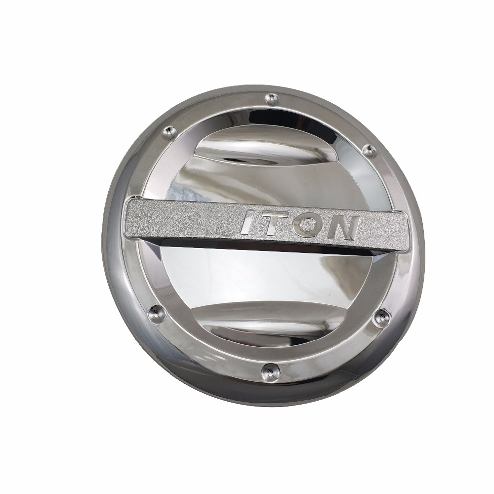 ABS Chrome plated FOR <font><b>Mitsubishi</b></font> Triton L200 2005-2018 Accessories Matte Black Fuel Tank Cap Cover image