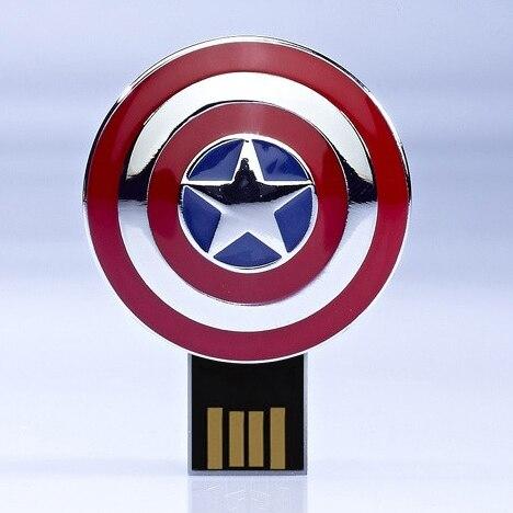 64GB 128GB Usb Flash Drive 1TB 2TB Avengers Captain America Pen Drive Iron Man Pendrive Usb 512GB Stick Flash Memory Card Gift
