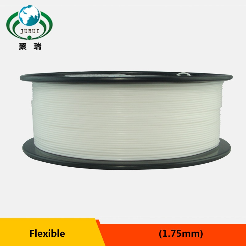 1kg 1 75mm white flexible filament Flex filament rubber filament for 3d printer
