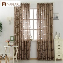 NAPEARL 1 Piece Floral modern curtain home decoration living room curtains window drapes black ready treatments bedroom kitchen
