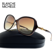 New Fashion High Quality Butterfly Sunglasses Women Polarized UV400 Sunglass Brand Designer Gradient Lenses Sun Glasses With Box