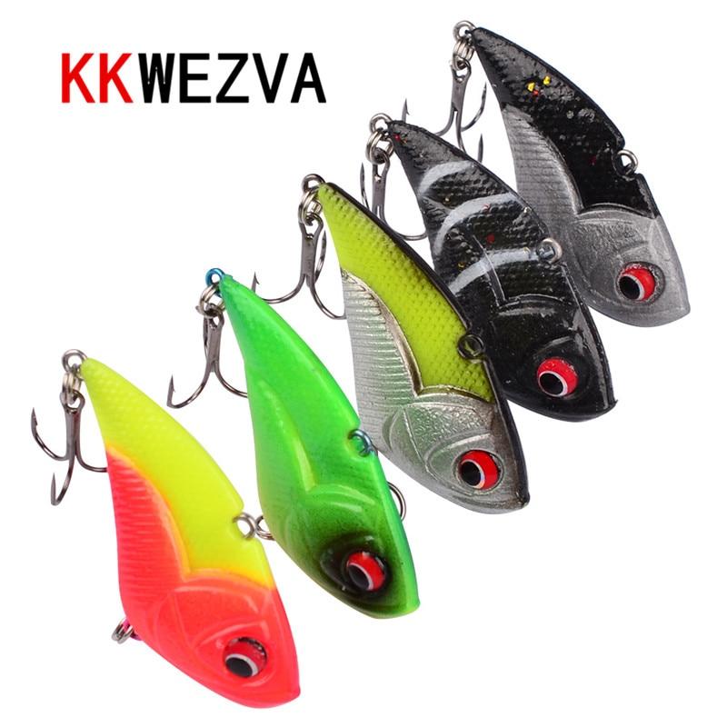 KKWEZVA 5Pcs 딥 다이빙 크랭크 베이트 소프트 낚시는 13g / 5cm의 실용적인 워 블러와 6 개의 소유자 고리를 만듭니다. peche isca 인공 VIB
