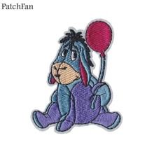 Patchfan cartoon donkey Applique patches sticker pour sewing shirt bag clothing para jacket clothes badges iron on t-shirt A1467