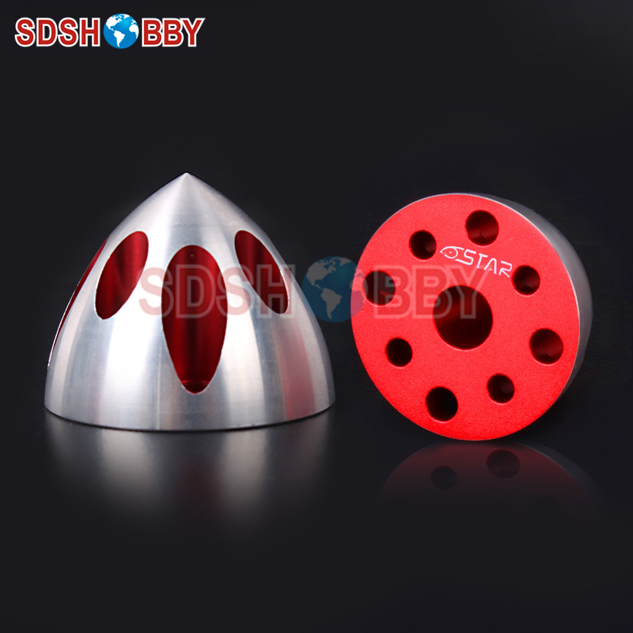 6STARHOBBY Solid Special Spinner-Red Color for DLE30, DLE35RA, DLE40, DLE50, DLE55, DLE55RA, DLE60/61, MLD35, MLD70, EME60