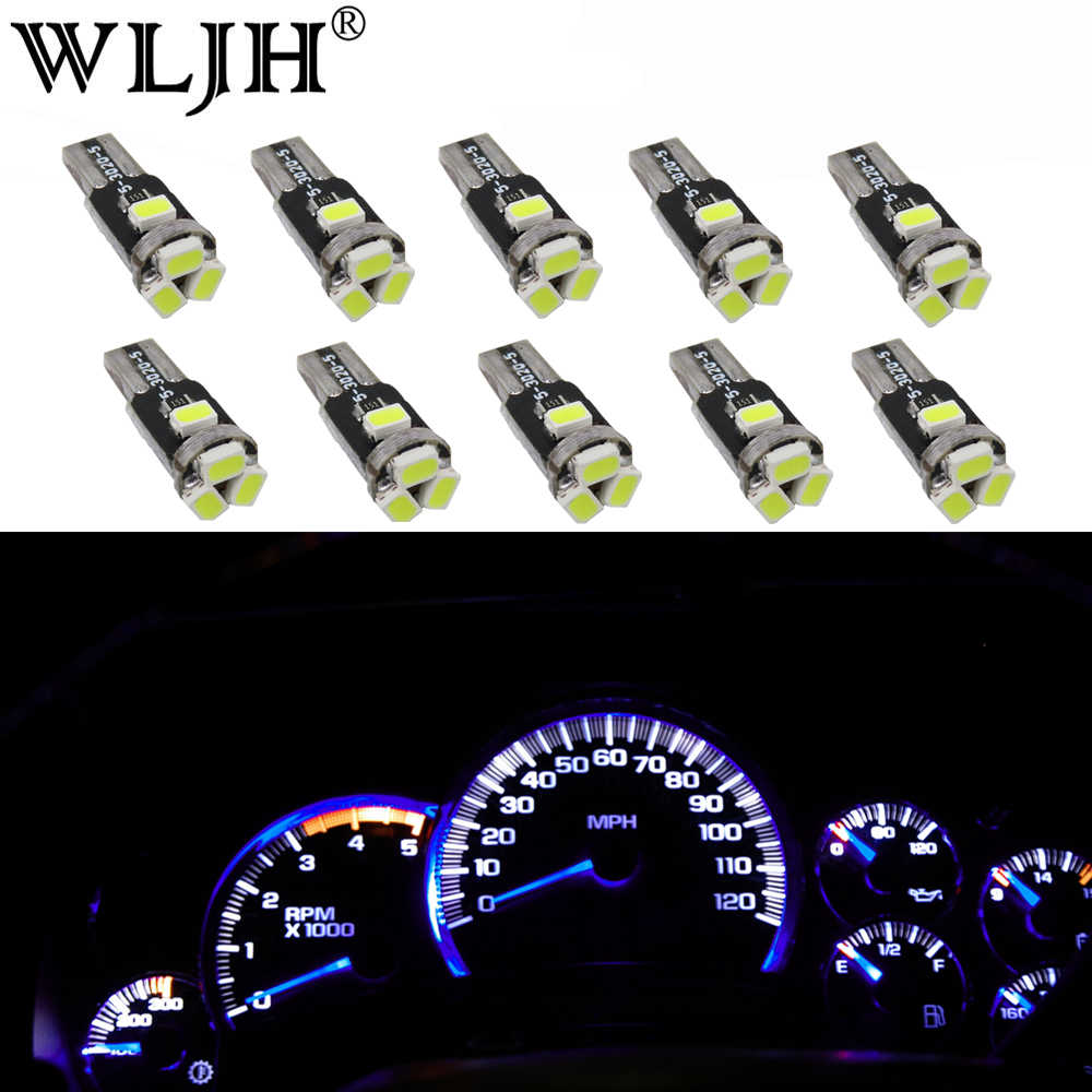 medium resolution of wljh t5 led 7 color car led light 74 73 286 car dash dashboard led instrument