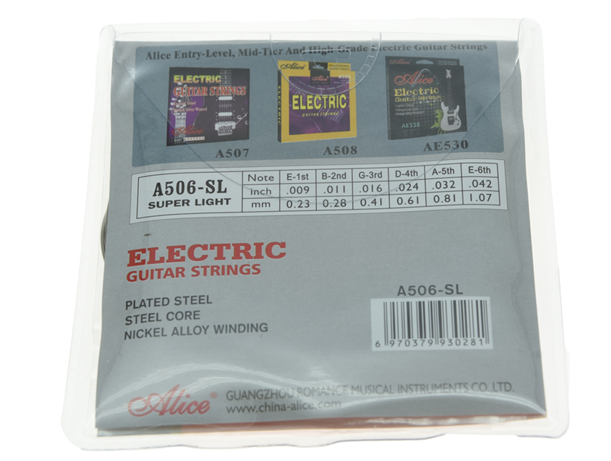 5 Packs Alice Plated Steel Electric Guitar String Super Light Stings 1st-6th (.009-.042)