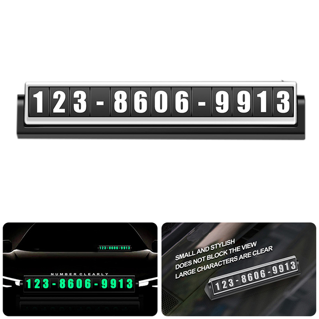 Parking card light phone number plate stickers night light temporary car park stop in car