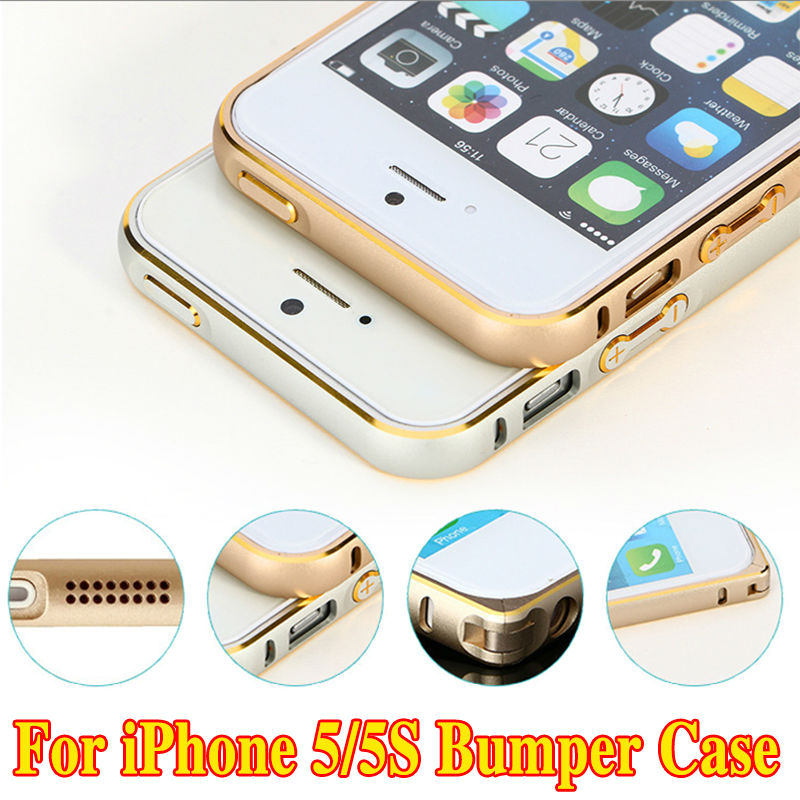 iphone 5s gold case. luxury rose gold aluminum bumper cases for apple iphone 5 5s se metal cover ultrathin iphone 5s case