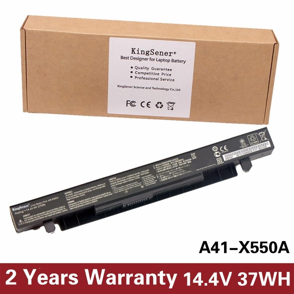 14.4V 37WH KingSener Korea Cell New Laptop Battery for ASUS A41-X550 A41-X550A X550 X550C X550B X550V X550D X450C X452 4CELLS kingsener japanese cell new 191yn laptop battery for dell alienware 15 r1 15 r2 191yn 14 8v 92wh free 2 years warranty