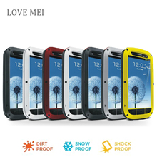 s3 i9300 Love Mei Waterproof Shockproof Gorilla Glass Metal Aluminum Case Cover For samsung galaxy s3 Three proofing phone cases