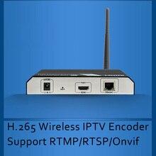 H.265/Codificador H.264 Wi-fi Sem Fio suporte IPTV Codificador Codificador De Vídeo HDMI para transmissão de IPTV RTMP RTSP ONVIF