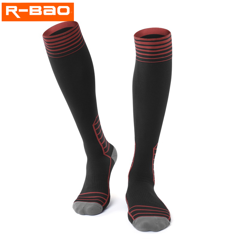 R-BAO Professional Cycling Sock Men Women Long Sport Compression Sock Bike cycle For Running Marathon calcetines ciclismo hombre