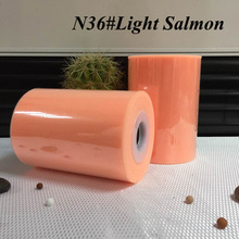 "100% nylon Light Salmon color tutu tulle roll 6""*100yards"