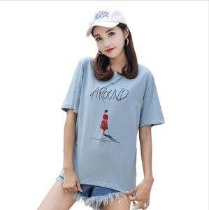 Женская футболка с коротким рукавом в стиле хип-хоп JY1002, лето 2019
