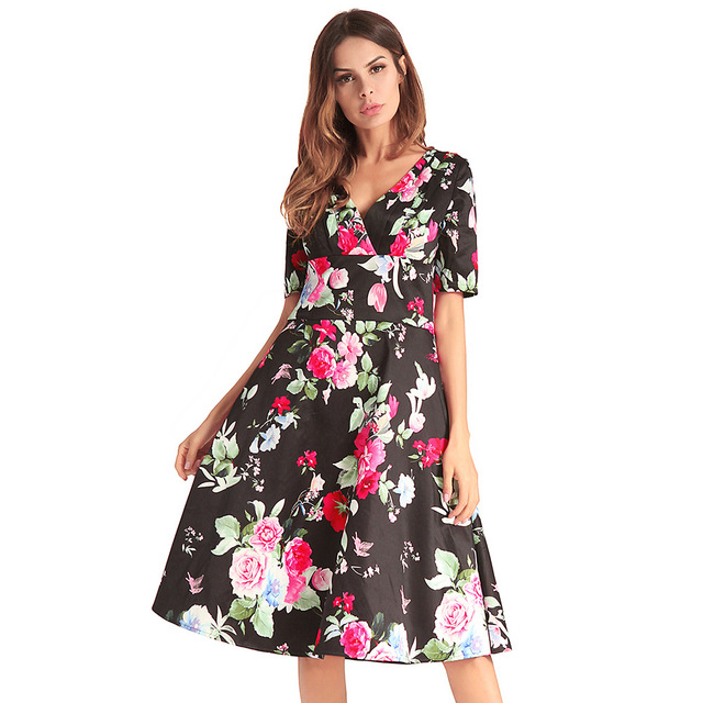 207b5174cb6 Promotion cross-border amazon wish detonation model of women s dress in 2018  big yards short sleeve print dress Free Shipping