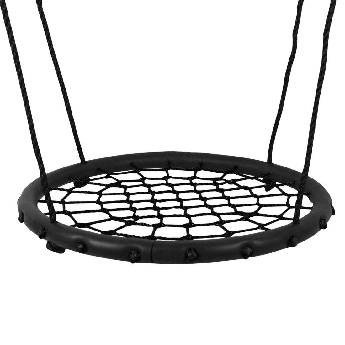 Enfants nid rond balançoire intérieur et extérieur cintre enfants Net corde Stout balançoire bébé jouets portant 200Kg diamètre 60 cm - 2