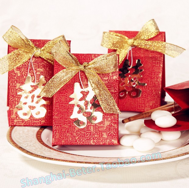 Traditional Chinese Wedding Gifts: 120pcs Chinese Traditional Double Happiness Wedding Favor