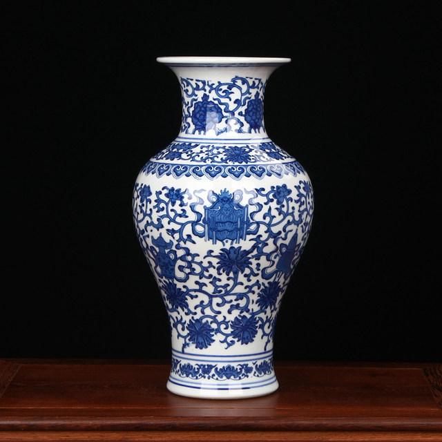 AliExpress & Jingdezhen Porcelain vase chinese ceramic vase China flower pot vase modern Chinese crafts blue and white vintage vase