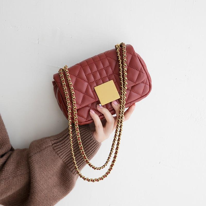 Women Genuine Leather Bag Sheepskin mini Messenger Bag Handbag Women Famous Brand Designer Female chain Handbag
