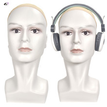 Bolihair high quality white Men Wig Stand Training Head Mannequin With Ear Male Dummy Wigs Earphone Caps Display